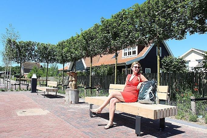 Zitbank Texel met rugleuning