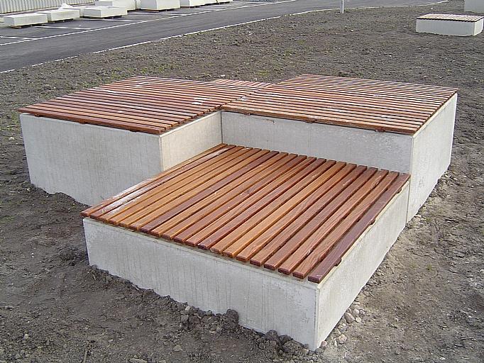 Zitelement Asch II met hout