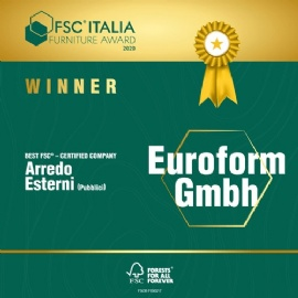 Euroform-W winnaar FSC Italia Furniture Award 2020