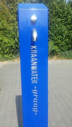 GroundLevel maakt 100 watertappunten voor Vitens. RVS watertappunt.