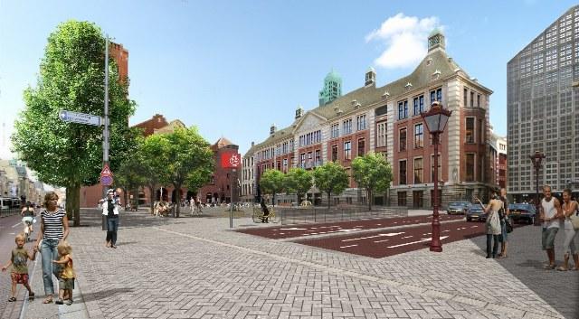 Beursplein vanaf Bijenkorf (bron: www.amsterdam.nl)